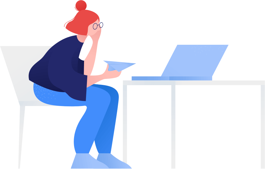 Illustration of person sitting in a chair